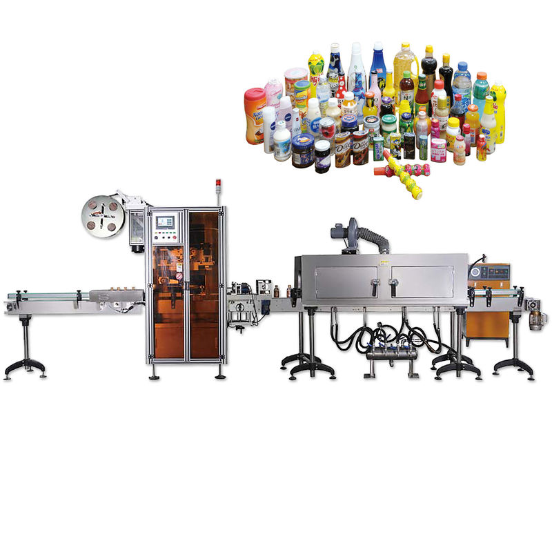 China Overall Bottle Cap Sealing Shrink Labeling Machines With Long Life Span supplier