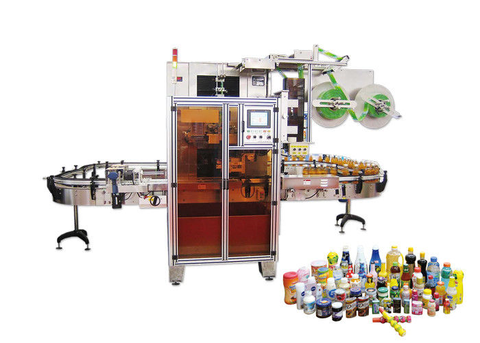 China Two Sides Bottle Automatic Shrink Sleeve Label Applicator For Mineral Water supplier
