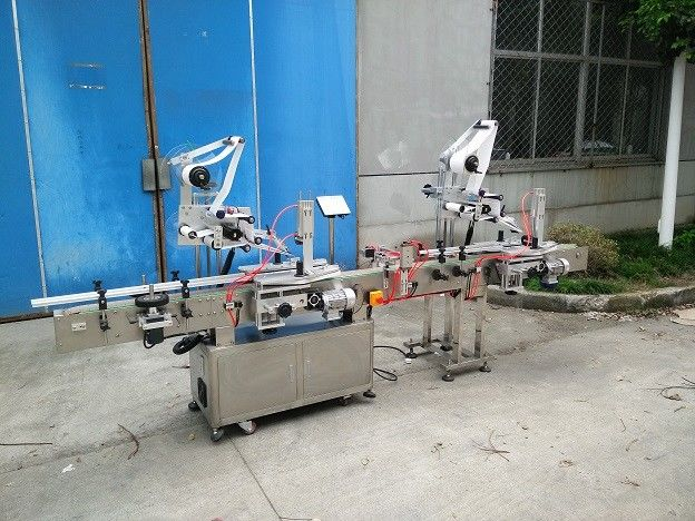 20-200mm Width Flat Surface Label Applicator With Top And Back Side Labeler