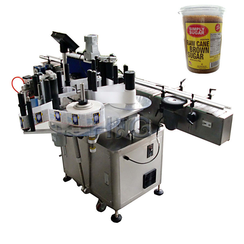 China Round Bottle Labeling Machine , bottling and labeling machine for bround suger jar supplier