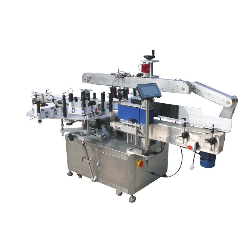 China Round Bottles Double Side Sticker Labelling Machine For Beverage , Food ,Chemical supplier