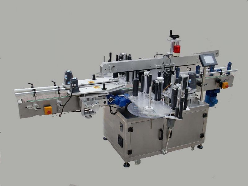 China Label Automatic Doubel Side Sticker Labeling Machine With Paging Device And Coding Machine supplier
