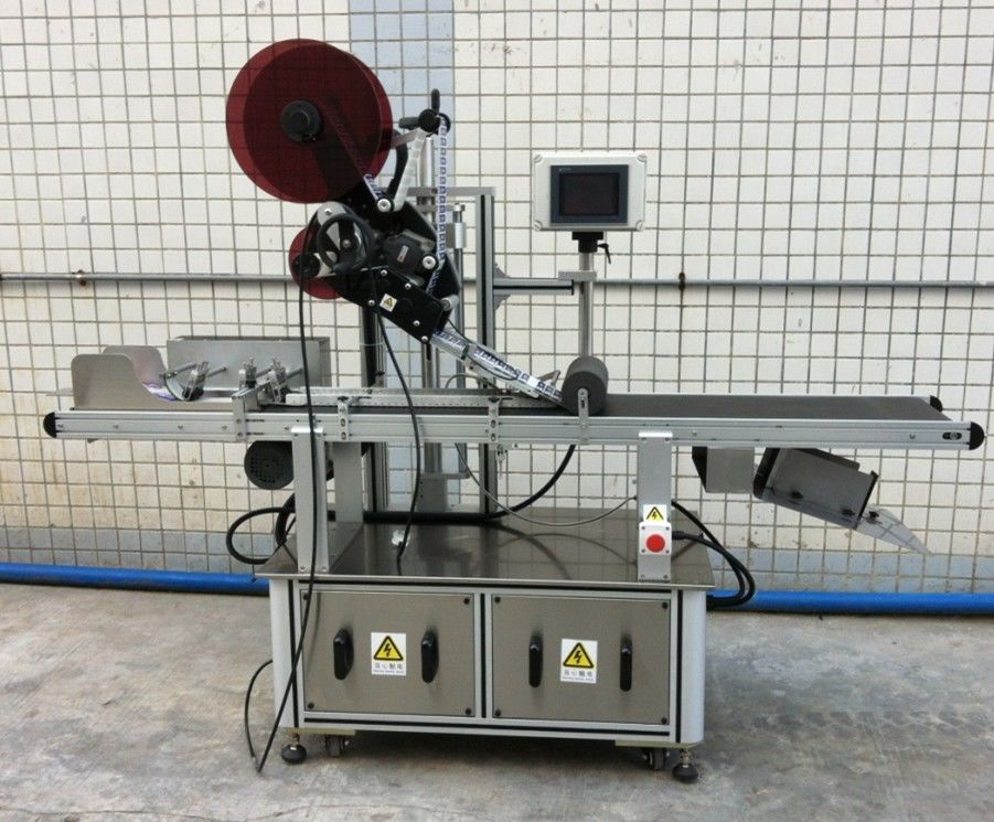 Top Labeling Machine For Mask / Unspread Carton / Paper Bags