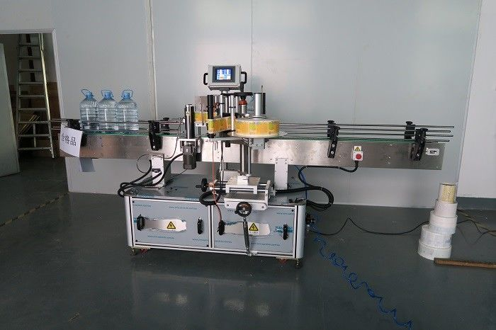 China 5L Drinking Water Round Bottle Sticker Labeling Machine , Self Adhesive Label Sticking Machinery supplier