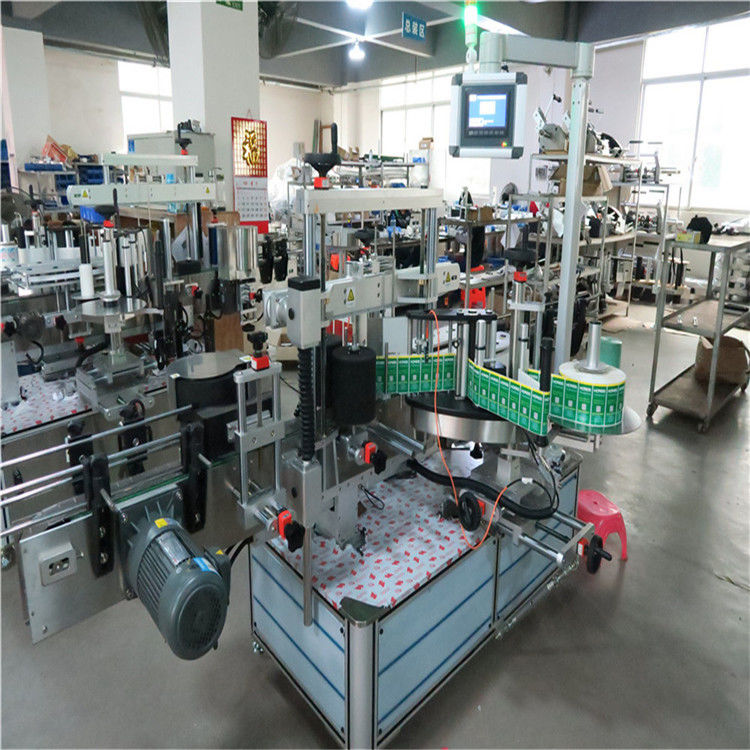 Automatic Sticker Label Applicator Square Bottle Labeling Machine