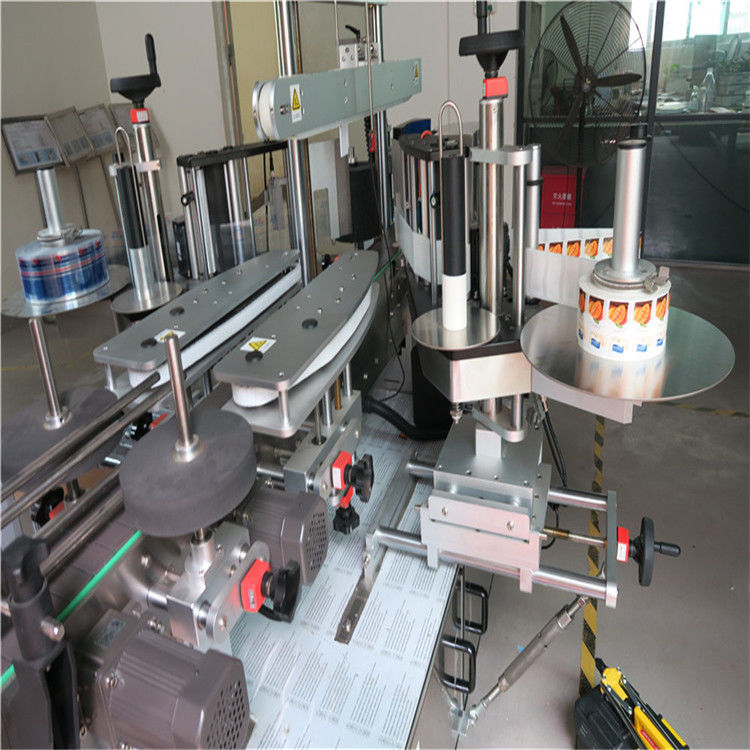 China Sticker Label Applicator , Single / Double Side Round Bottle Labeling Machine supplier