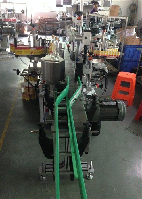 China CE Sticker Label Applicator , Wine Bottle Labeling Machine Servo Motors Driving supplier