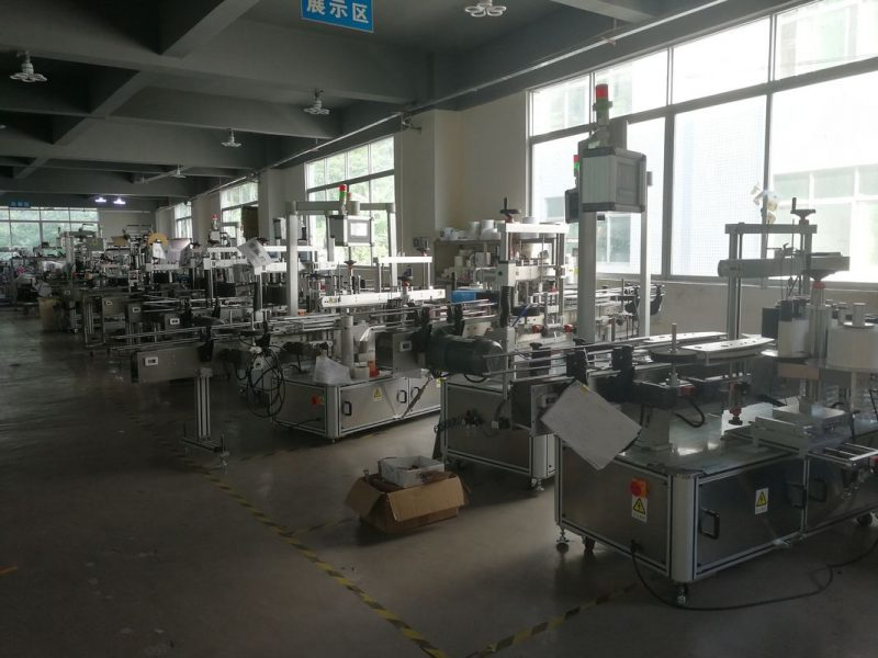 China Beverage Property Sticker Label Applicator , Automatic Sticker Labeling Machine supplier