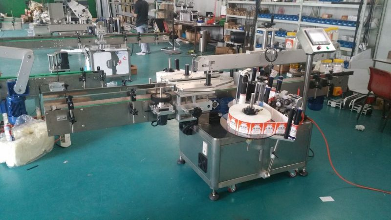 China Automatic Bottle Labeler Double Side Sticker Labelling Machine For Pouches Standing Up supplier