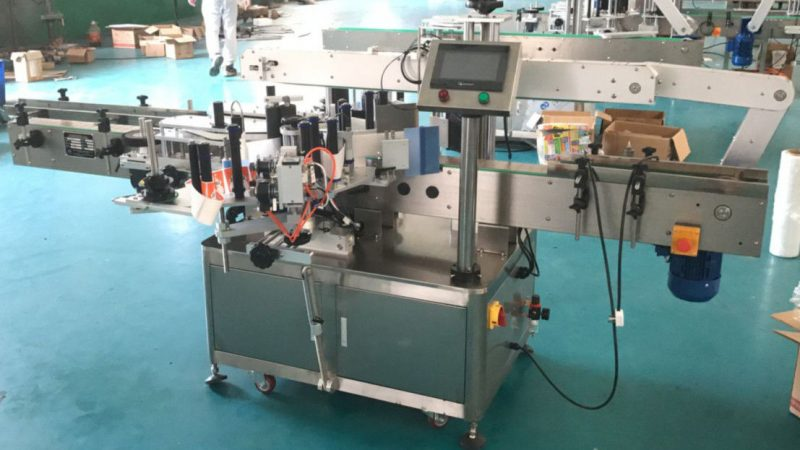 China Front And Back Sides Label Applicator With Correcting Mechanism , Labeling Sticker Machine supplier
