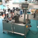 Front And Back Sides Label Applicator Machine With Correcting Mechanism