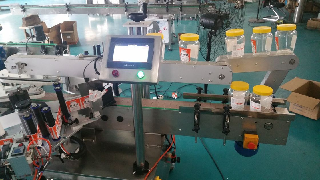 Automatic Round Bottle Double Side Sticker Labelling Machine For Beer Bottle