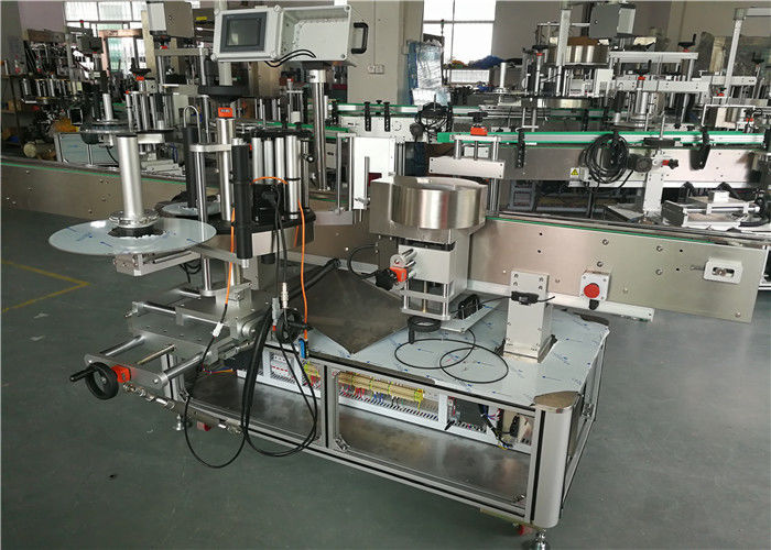 China WT-650GS Double side Sticker Labeling Machine for Shampoo Oval Bottle supplier