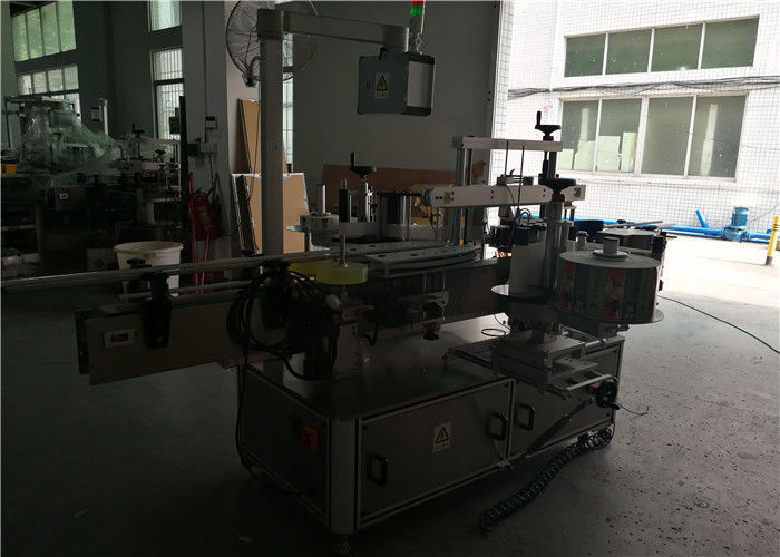 China Double Sided Round / Square / Flat Plastic Bottle Labeling Machine , Automatic Bottle Label Applicator supplier