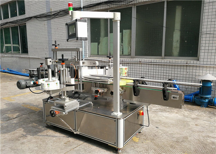 Shampoo Flat Bottle Labeling Machine Front And Back
