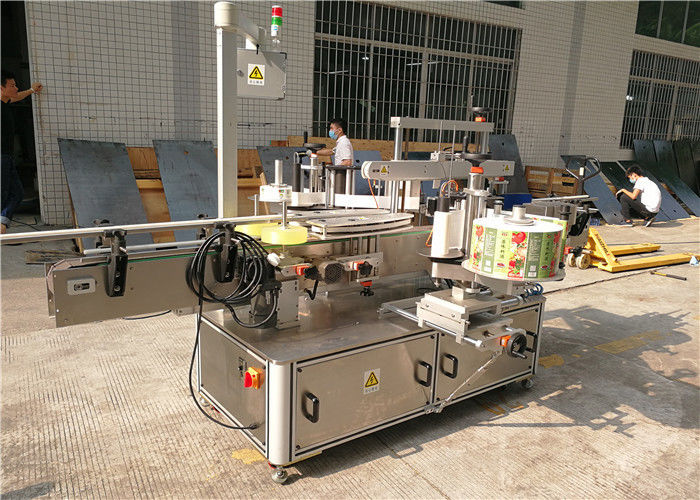 China Self adhesive labeling machine for flat bottle , Label Applicator Machine For Bottles supplier
