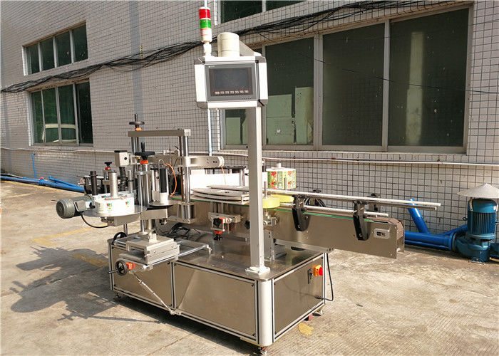 China Double Side Flat Bottle Labeling Machine for Transparent Labels without bubbles supplier