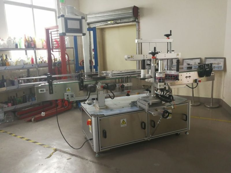 China Full automatic Square Bottle labeling machine wrap around for 3000-5000B/H supplier