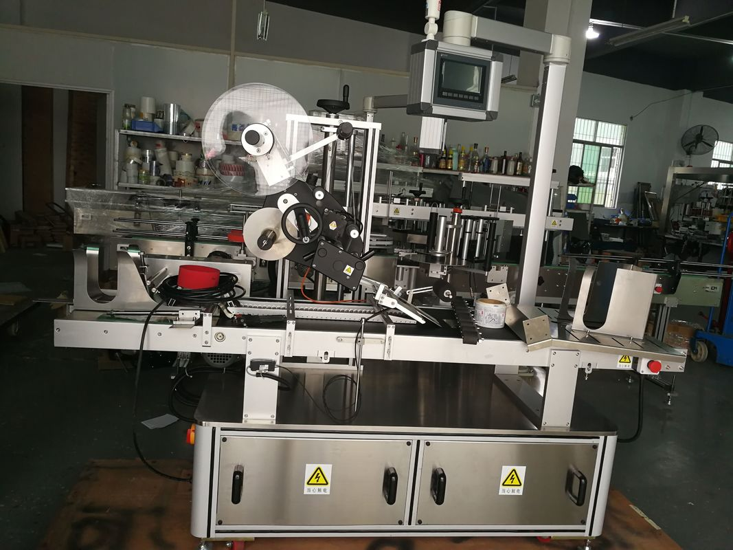Paging Top Labeling Machine For Plastic Bag / Unspread Carton / Mask Bag
