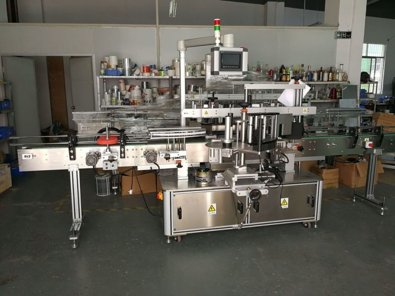 China Self Adhesive Sticker Flat Bottle Labeling Machine High Speed 5000-1000B/H supplier