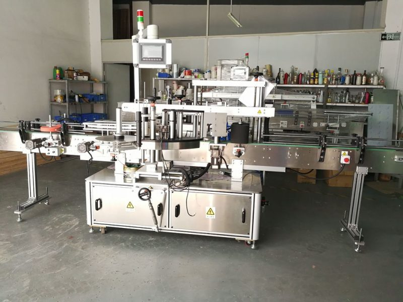 China Round Bottle Labeling Machine / Full Automatic Flat Surface Label Applicator supplier