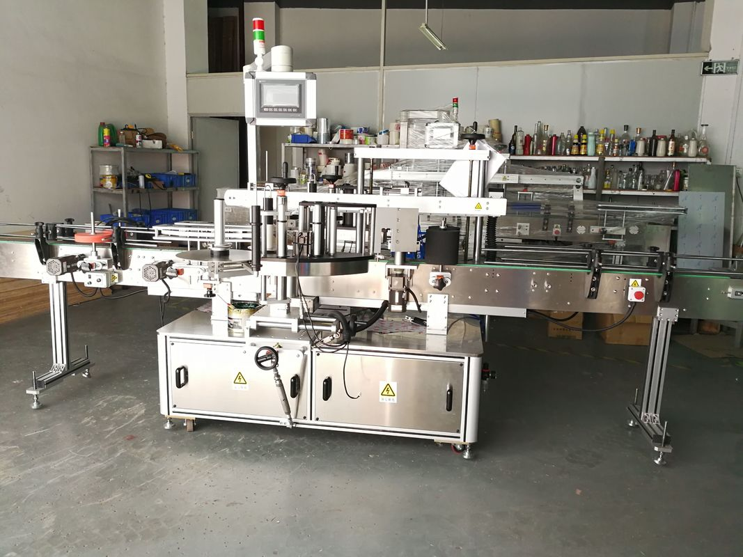 Round Bottle Labeling Machine / Full Automatic Flat Surface Label Applicator