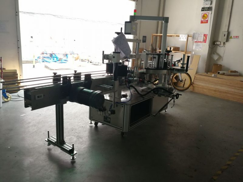 China Flat Bottle Pressure Sensitive Labeling Machine One Side Or Two Sides supplier