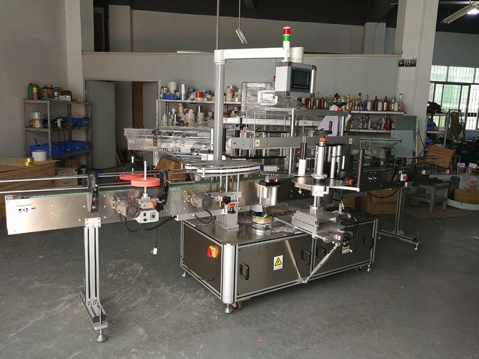 Shampoo Flat Bottle Labeling Machine , self-adhesive labeling machine front and back