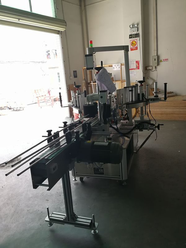 China Sticker Front And Back Labeling Machine On Oval / Rectangular / Square / Round Bottle supplier