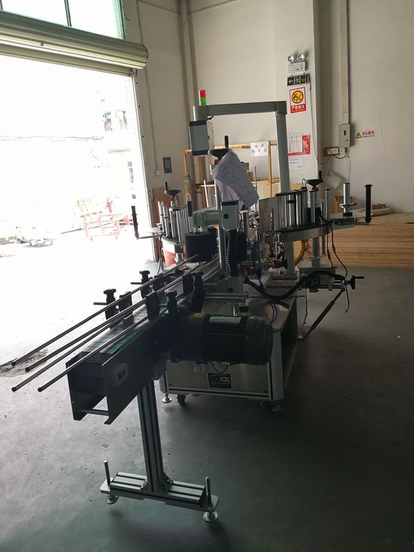 Sticker Front And Back Labeling Machine On Oval / Rectangular / Square Bottle