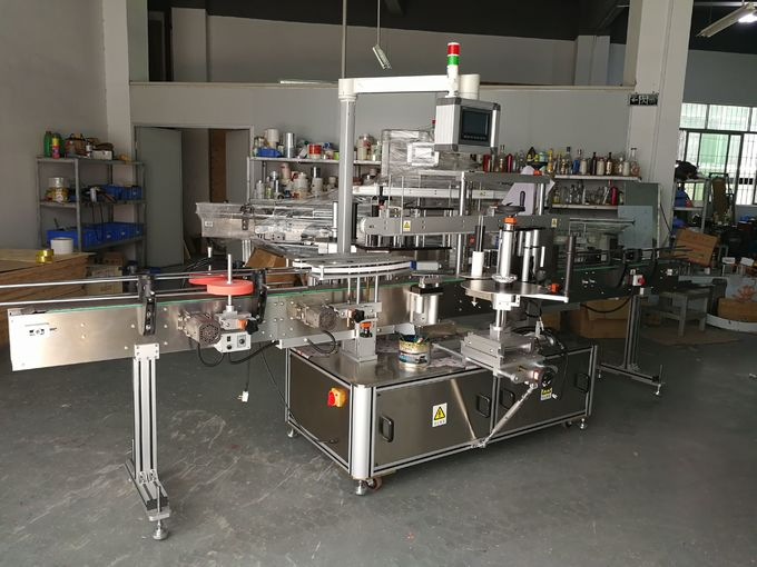 Oval Bottle labeling machine two stickers on bottles 5000B/H - 8000B/H Capacity per hour