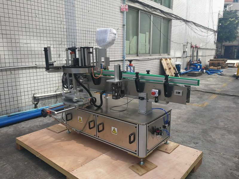 China Self adhesive Automatic Round Bottle Sticker Labeling Machine PLC control supplier