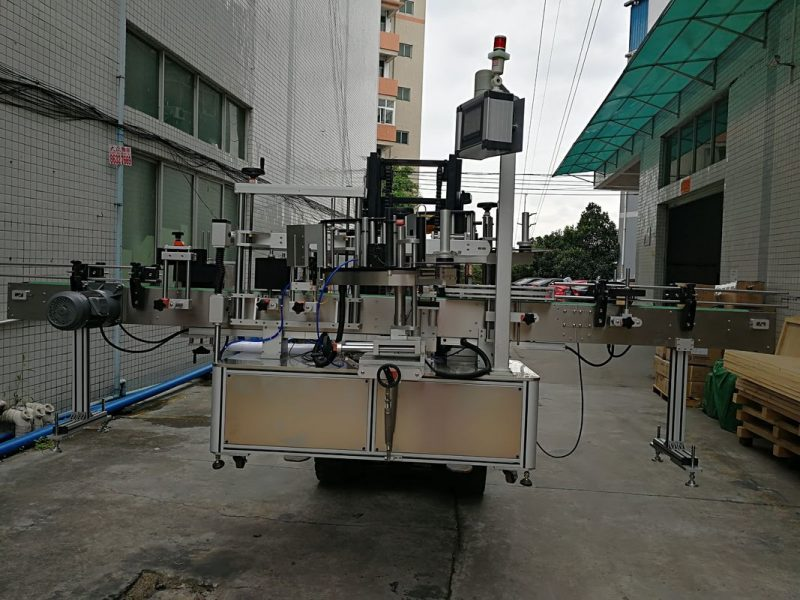 China Automatic Double Side Sticker Labelling Machine Label applicator for plastic jar supplier