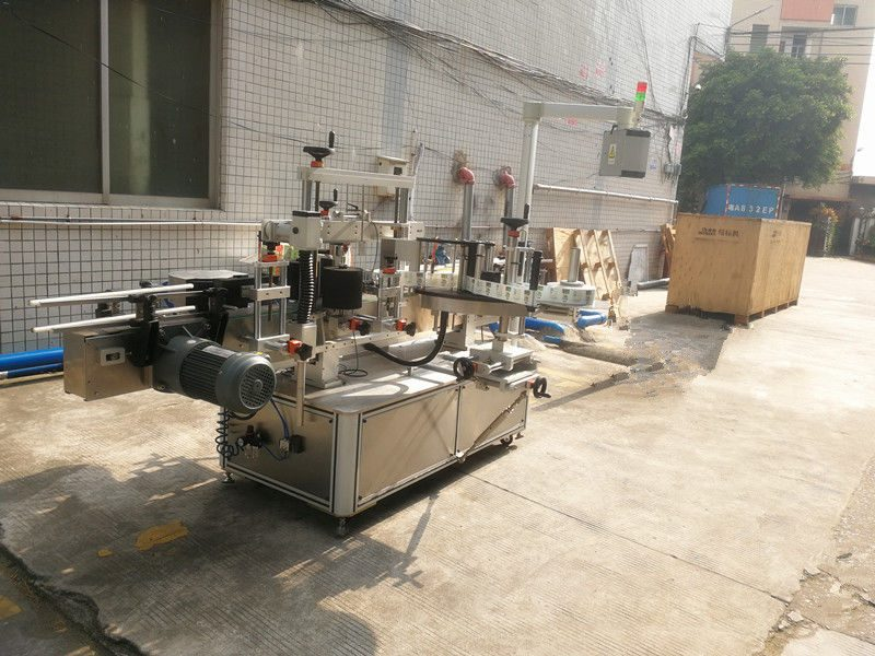 China Square Bottle Labeling Machine , self adhesive labelling machine for hexagonal and square jars supplier