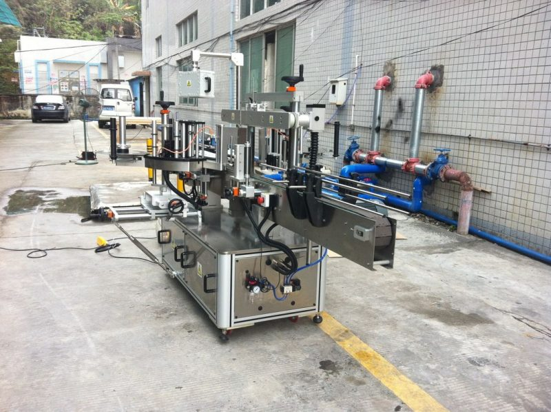 China Adhesive Sticker Applicator Machine for mineral water round square cone supplier