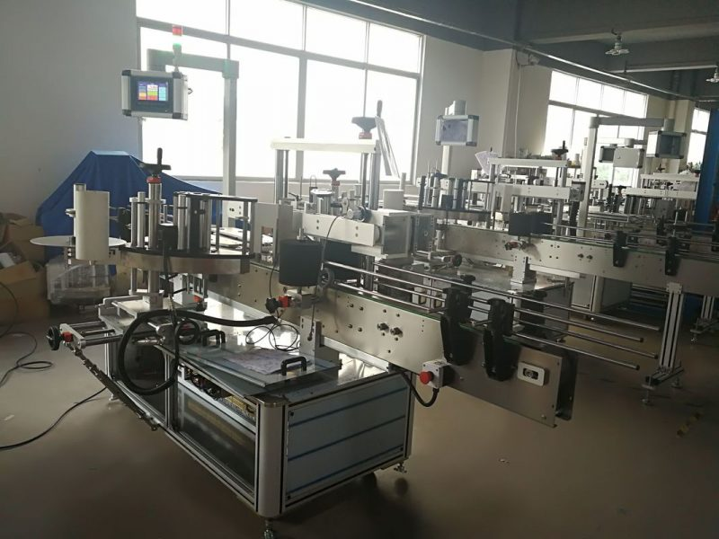 China Self Adhesive Sticker Labeling Machine Front And Back Side , bottle label applicator supplier