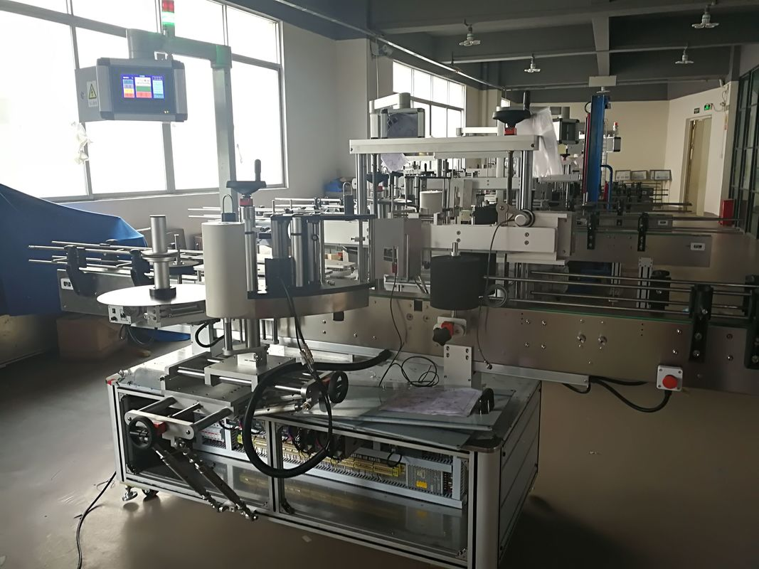 Flat Bottle Labeling Machine , Automatic Label Applicator Machine