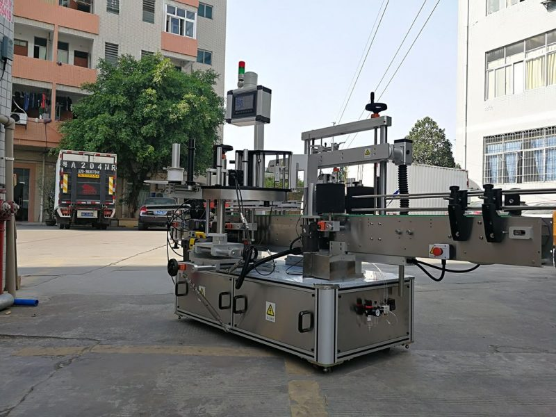 China High-Speed Automatic Three Side Square Bottle Label Applicator Machine With Single Label supplier