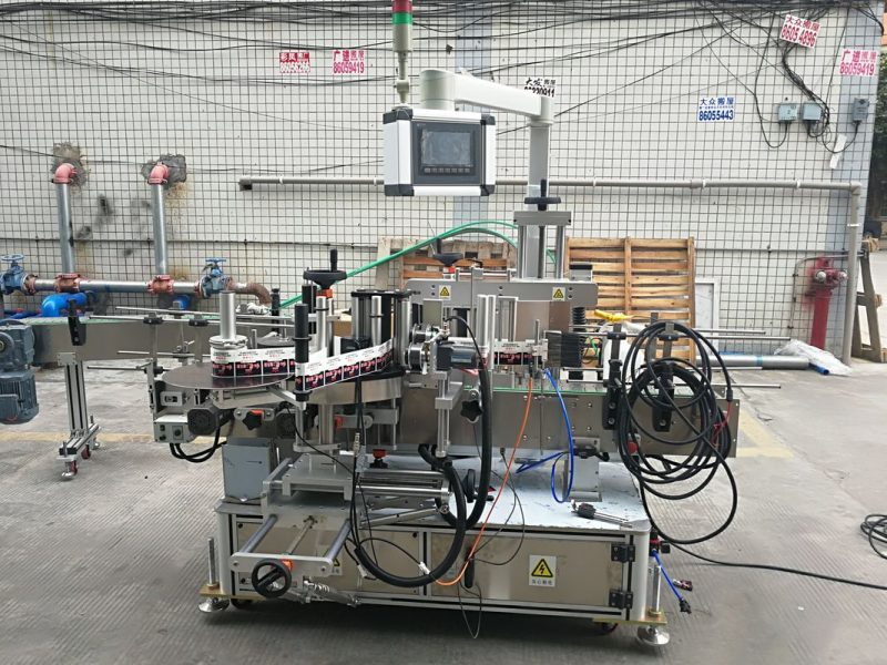 China High Precise Automatic Sticker Double Sided Flat Bottle Labeler Machine Long 2m supplier