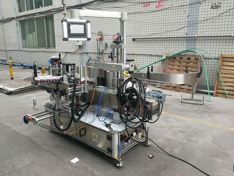 China Full Automatic Adhesive Double Side Bottle Labeling Machine With Coder supplier