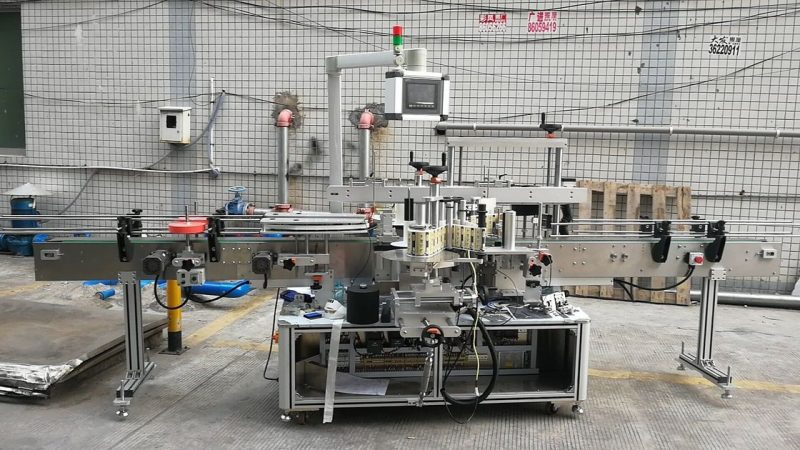 China Automatic Adhesive Square Bottle Labeling Machine Double Side supplier