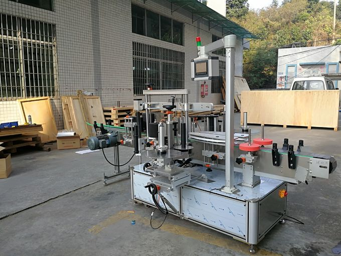 Two-Side Self Adhesive Labeling Machine Front And Back / Bottle Labeling Equipment