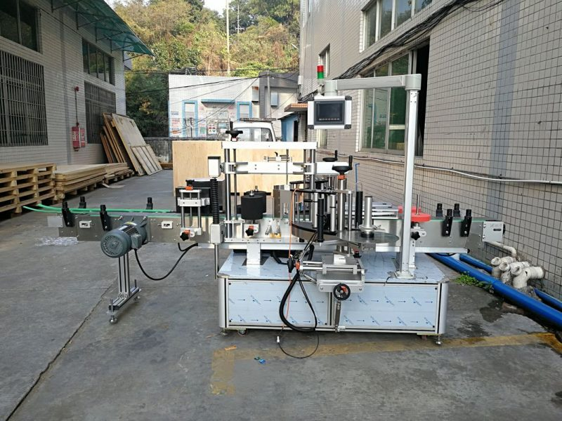 China Automatic Sticker Flat Bottle Labeling Machine Integrated Front And Back supplier