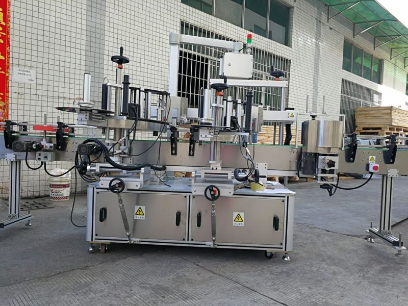 China Auto Single Side Square Bottle Labeling Machine / Self Adhesive Labeling System supplier